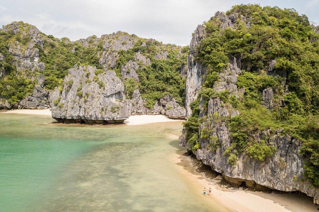 Hidden beaches in Lan Ha bay