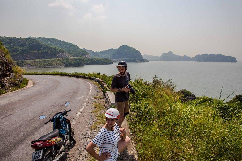 Enjoying the view in Cat Ba island